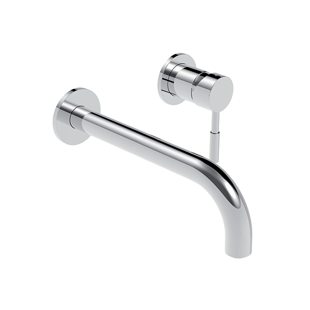 Via Chrome Two-handle Low Arc Bathroom Faucet